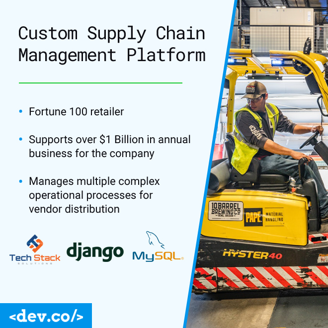 $1 Billion in Annual Sales Managed by Custom Supply Chain Platform
